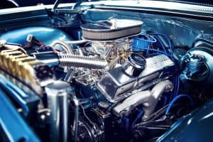 Car engine and filter